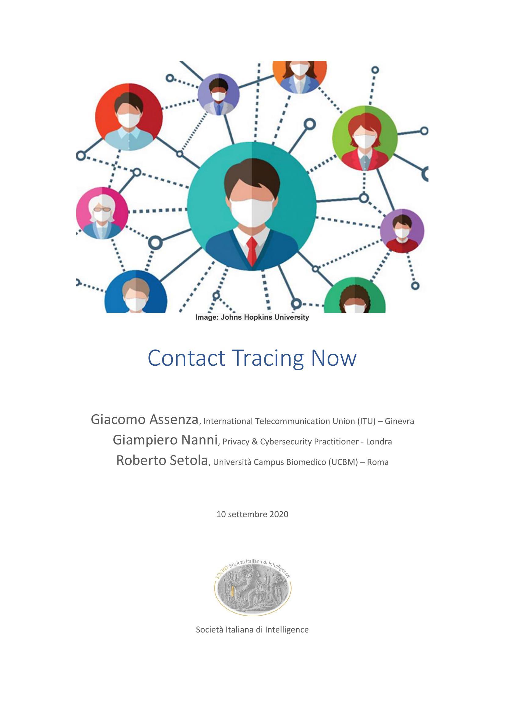Contact Tracing Now, studio SOCINT sulle applicazioni di tracciamento