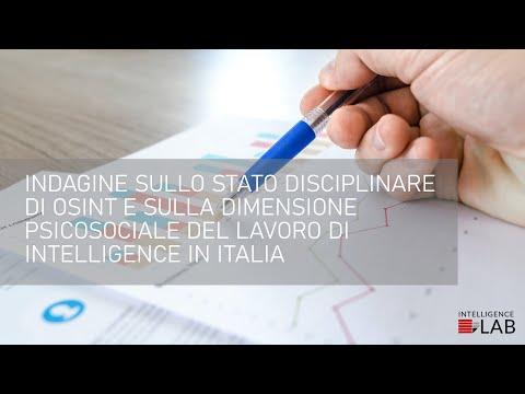 Indagine sullo stato disciplinare delle fonti aperte in Italia