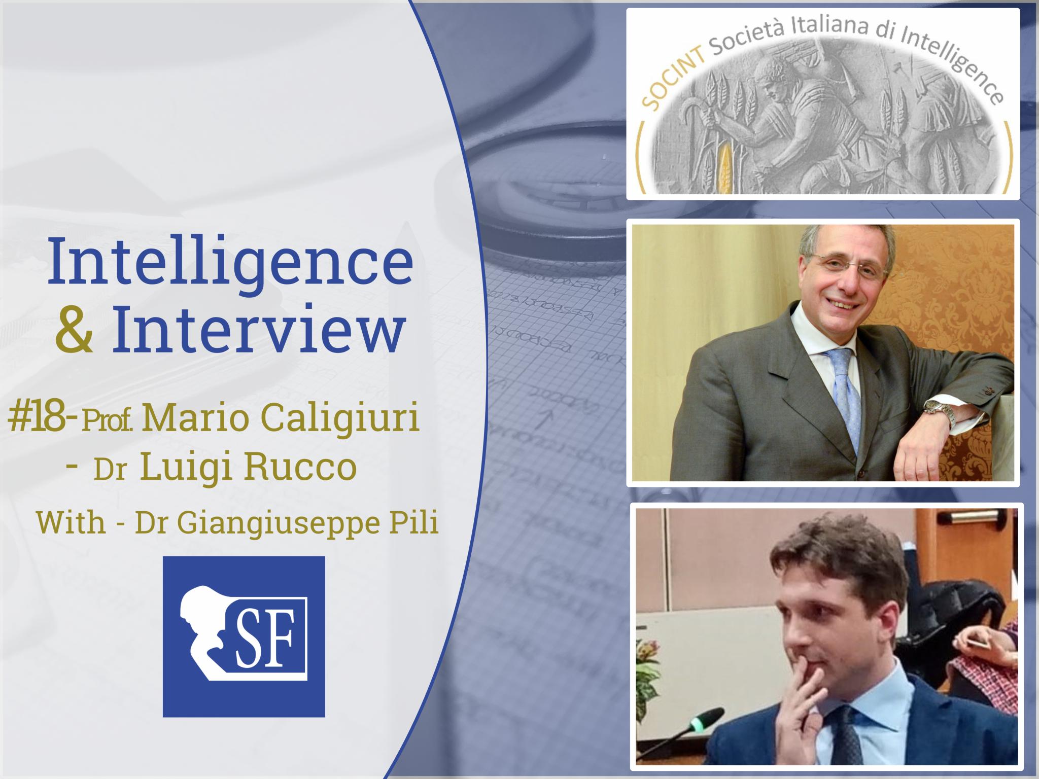 Società Italiana di Intelligence, intervista ScuolaFilosofica, Intelligence & Interview n 18