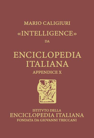 Intelligence Caligiuri scrive voce Treccani
