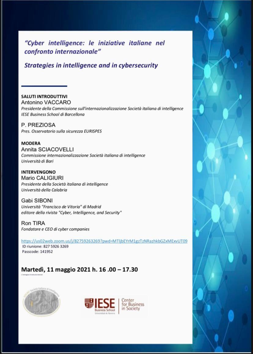 Webinar Cyber Intelligence Italiana nel contesto internazionale