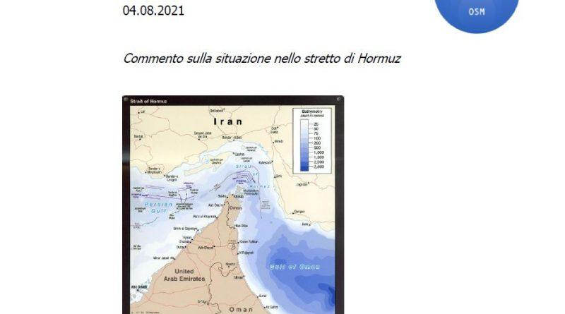 Stretto di Hormuz - NOTA EVENTO
